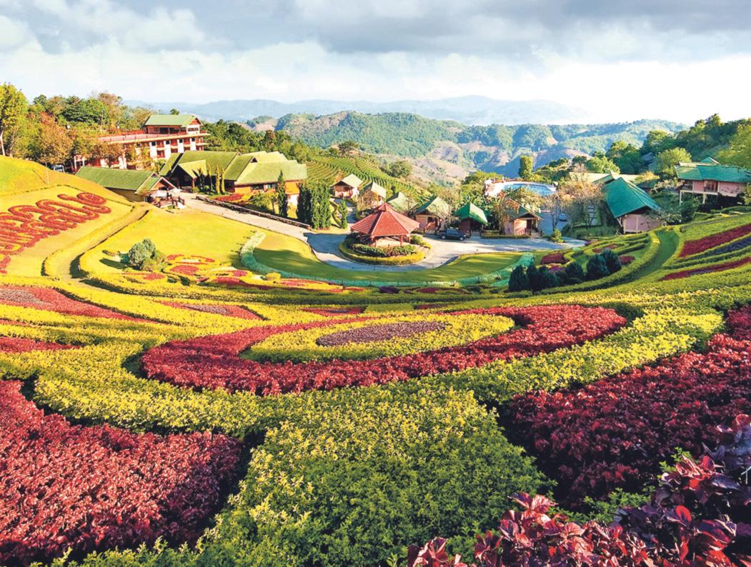 Mae Fa Luang Garden in Doi Tung, Chiang Rai