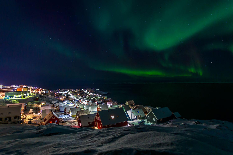 Nordlichter in der Nähe von Nuuk