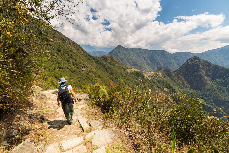 Wanderer auf dem Weg nach Machu Pichu