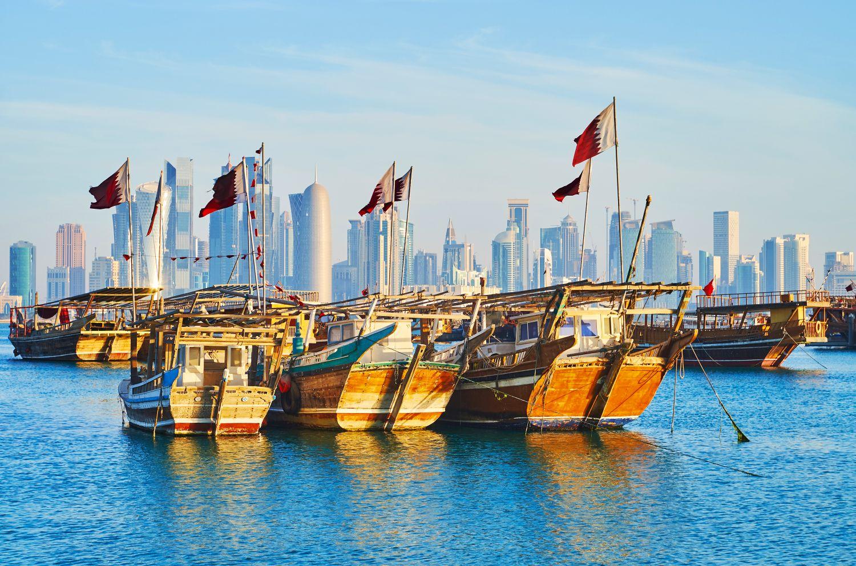 Hafen in Doha, Katar/Qatar